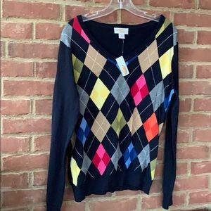 NWT Talbots argyle sweater